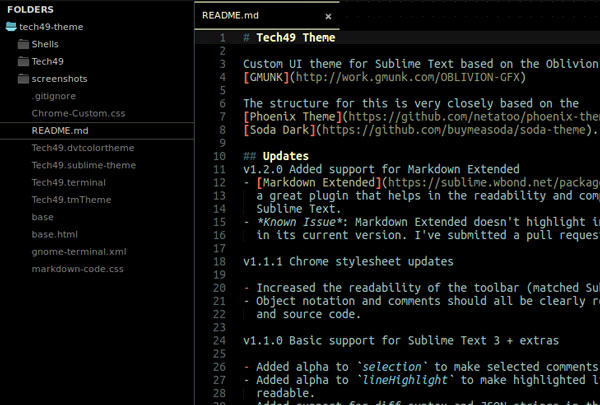17.sublime text themes