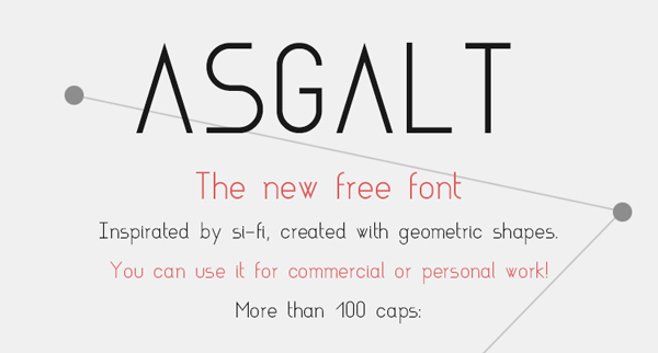 2.Free Font Of The Day  Asgalt