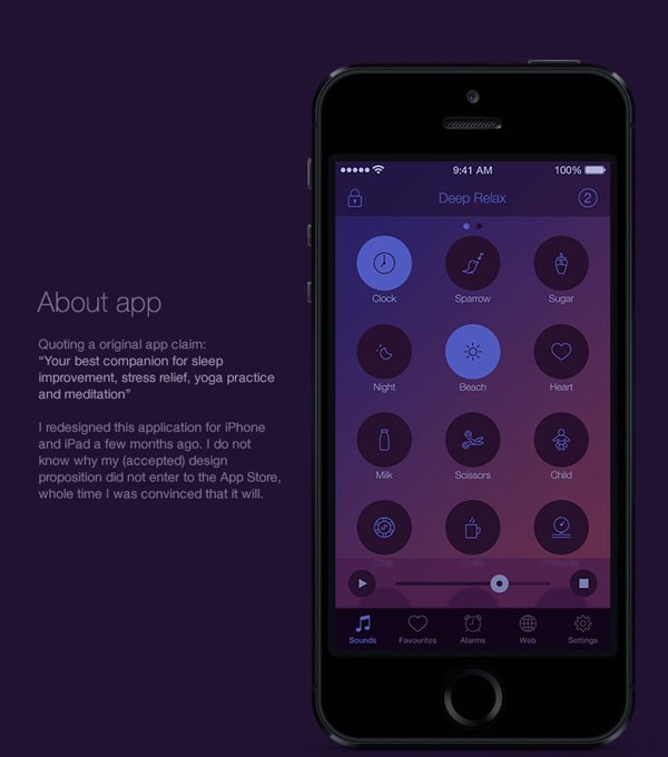 2.Mobile App Design Inspiration – Deep Relax