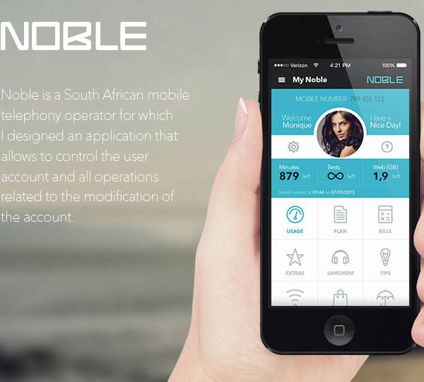 Mobile App Design Inspiration – Noble | Designbeep