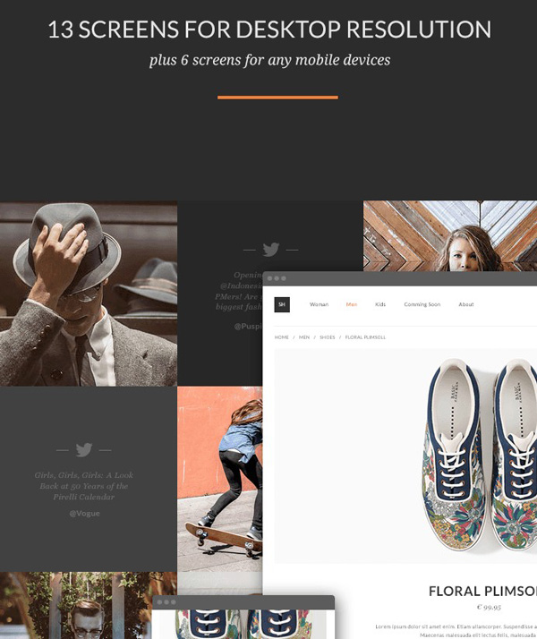 2.Online Store Theme PSD