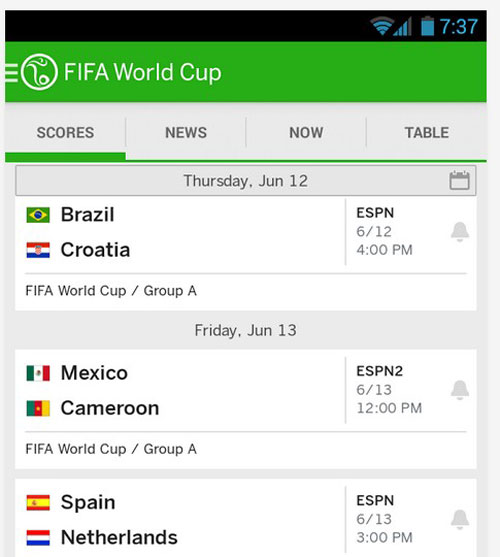 2.world cup apps
