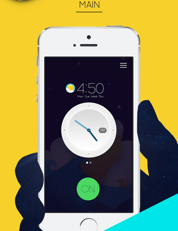 3.Mobile App Design Inspiration – Alarm Concept