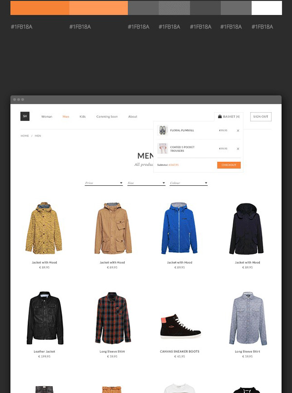 3.Online Store Theme PSD