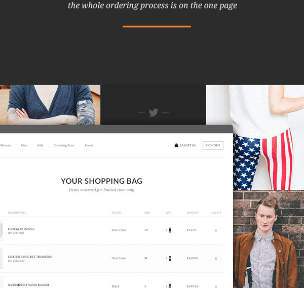 4.Online Store Theme PSD