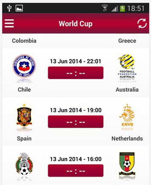 4.world cup apps