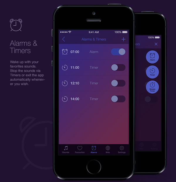5.Mobile App Design Inspiration – Deep Relax