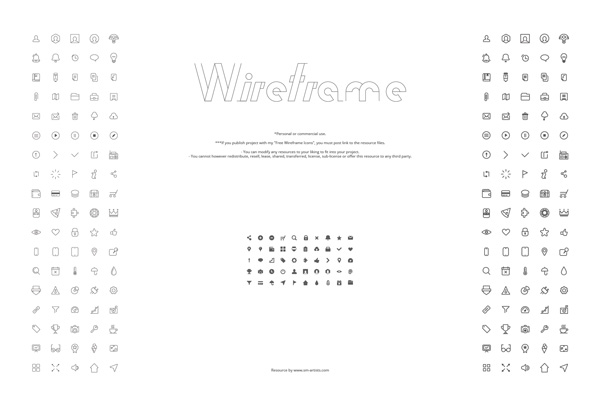 5.Wireframe Icons