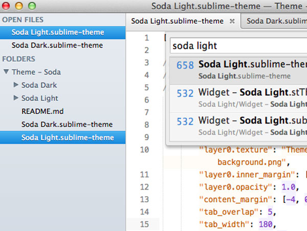 5.sublime text themes