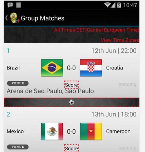 5.world cup apps