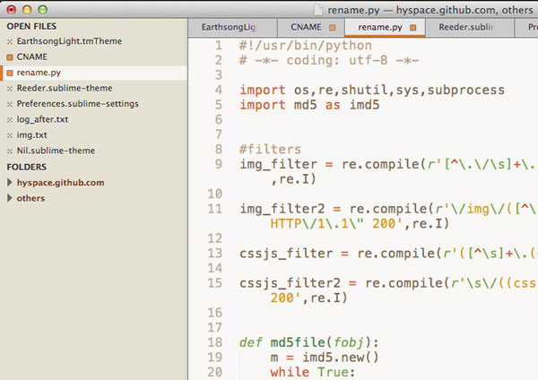 6.sublime text themes