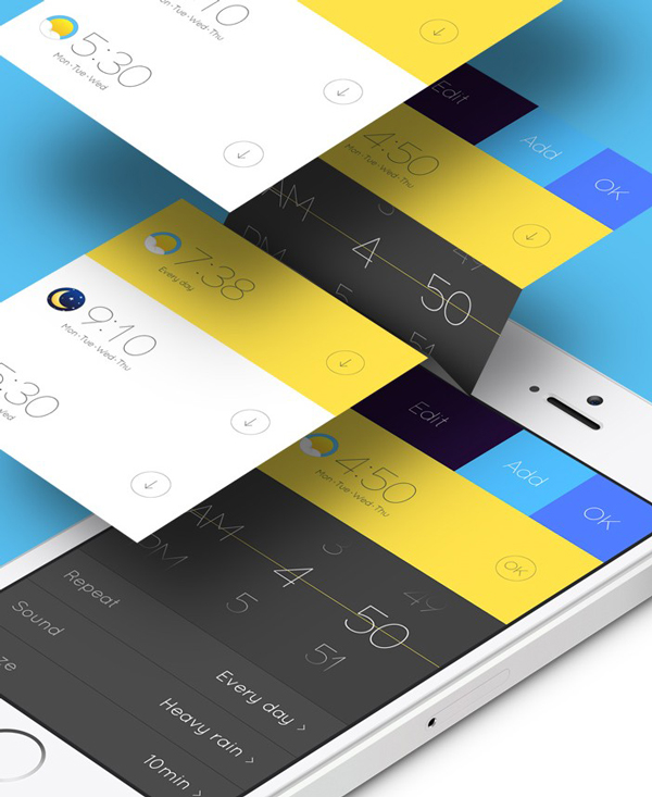 7.Mobile App Design Inspiration – Alarm Concept