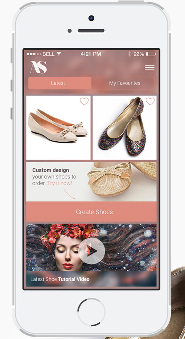 8.Mobile App Design Inspiration – AS Shoe App