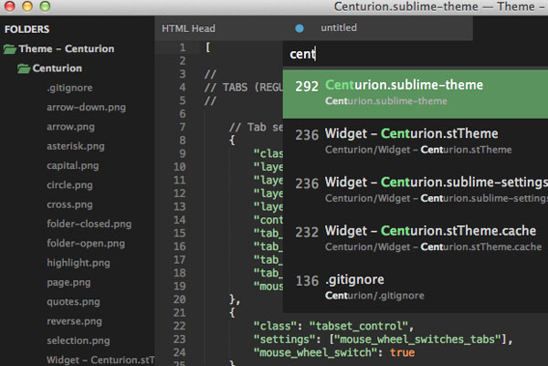 8.sublime text themes