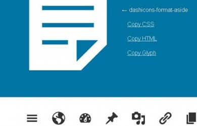 dashicons homepage