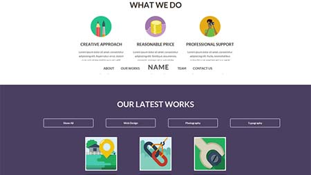 one page flat template