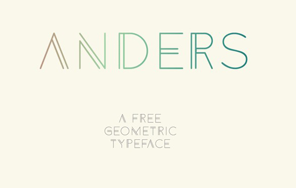 1.Free Font Of The Day  Anders