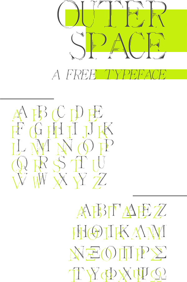 1.Free Font Of The Day  Outer Space