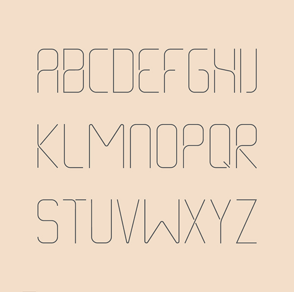 2.Free Font Of The Day  Thin Line