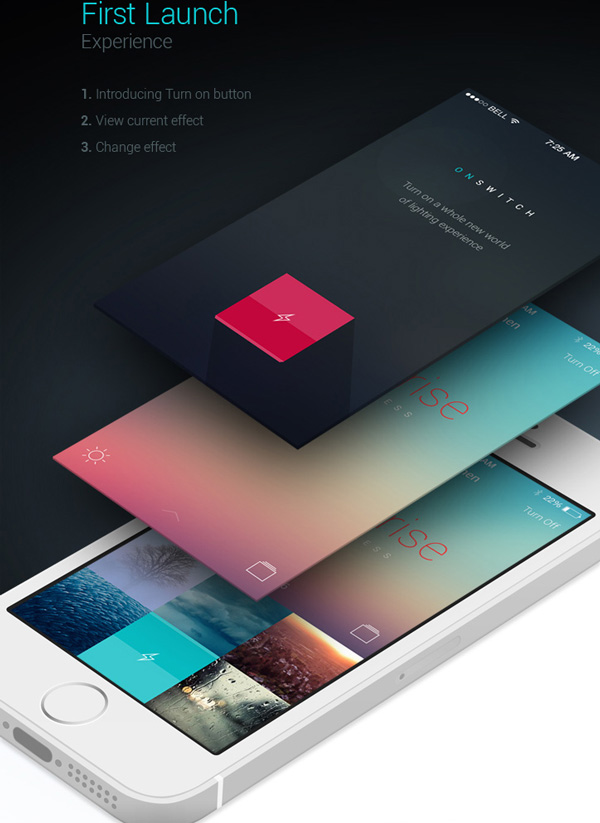 3.Mobile App Design Inspiration – Philips Hue