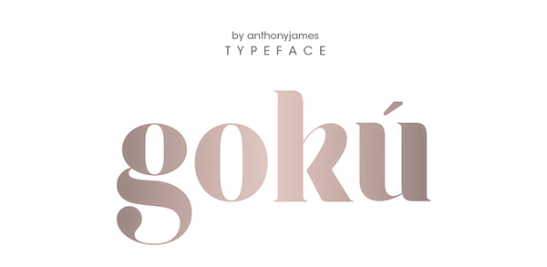 4.Free Font Of The Day  Gokú