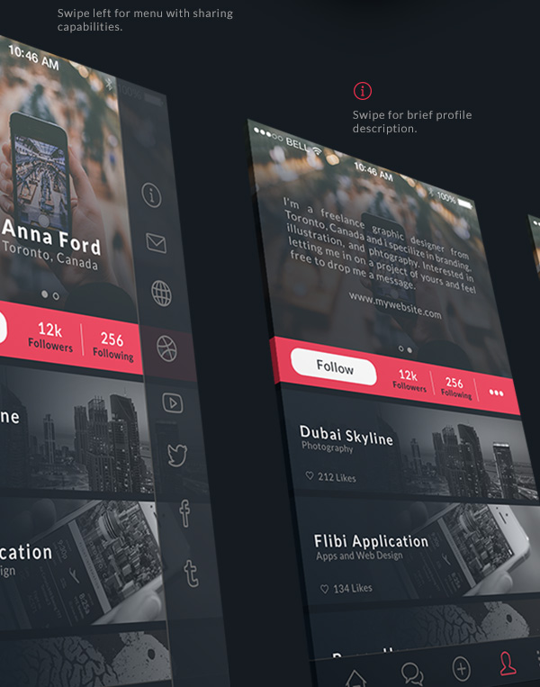 4.Mobile App Design Inspiration – Behance Plus