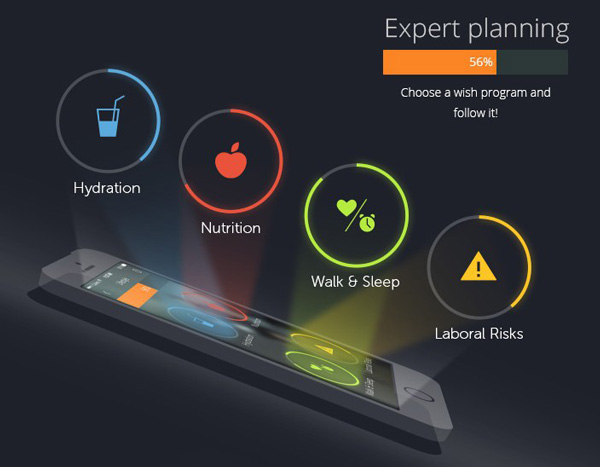 Mobile App Design Inspiration – PlayWellness | Designbeep