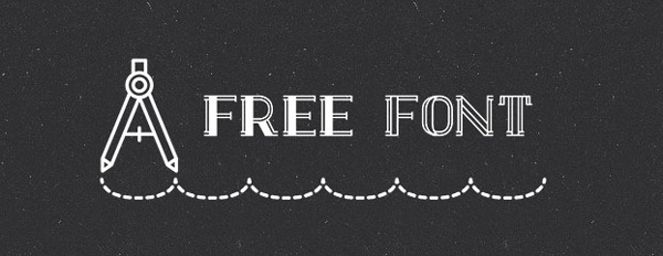 5.Free Font Of The Day  Draft Display