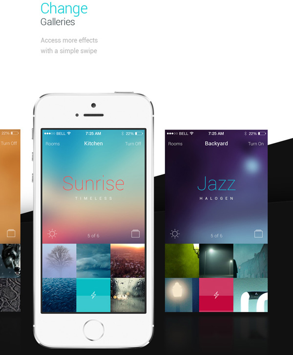 5.Mobile App Design Inspiration – Philips Hue