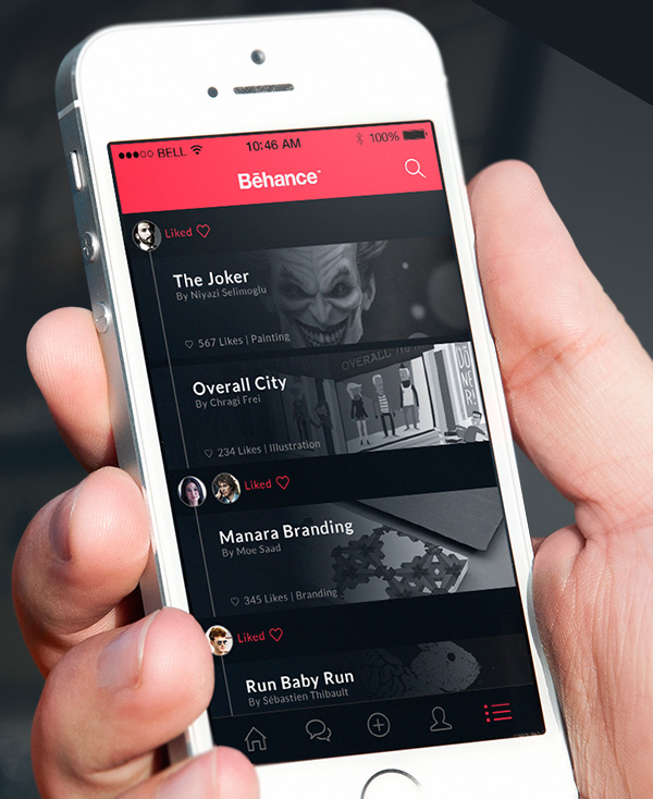 6.Mobile App Design Inspiration – Behance Plus
