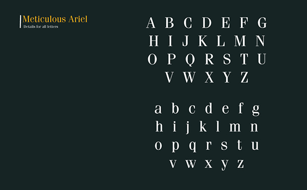 7.Free Font Of The Day  Meticulous Ariel