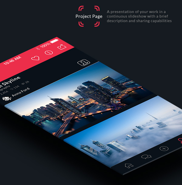 7.Mobile App Design Inspiration – Behance Plus