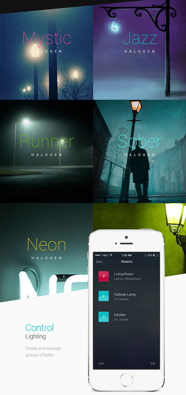 7.Mobile App Design Inspiration – Philips Hue