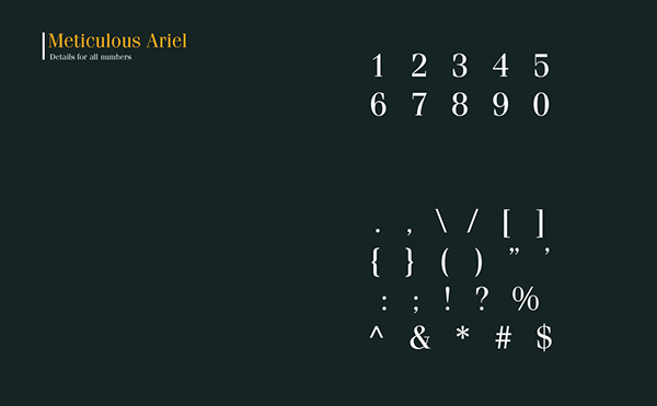 8.Free Font Of The Day  Meticulous Ariel
