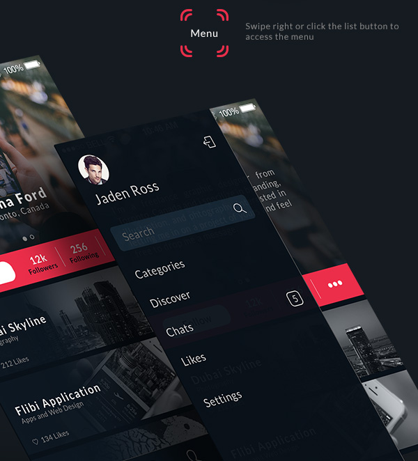 8.Mobile App Design Inspiration – Behance Plus