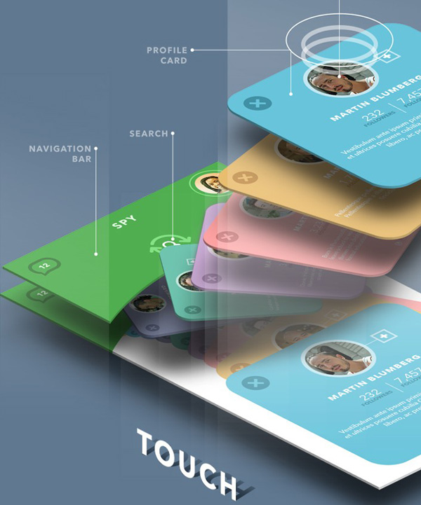 Mobile App Design Inspiration – Green Spy Concept