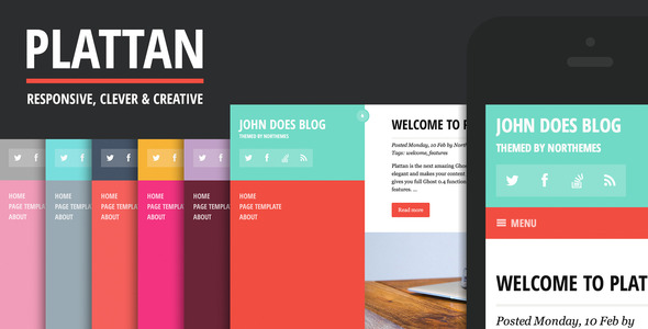 flat wordpress themes