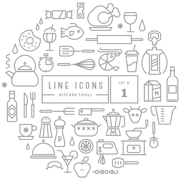 Merveilleux Line Icon Set Free Download Line Icon Sets Outdoor Kitchen Designbeep