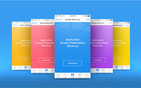 App Screen Presentation Mockups