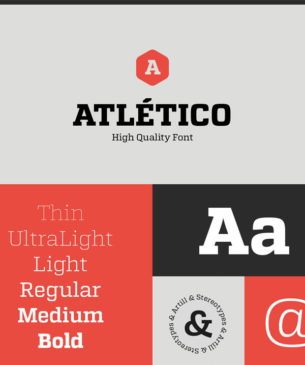 1.Atletico free font
