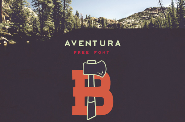 1.Free Font Of The Day  Aventura