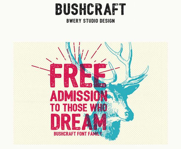1.Free Font Of The Day  Bushcraft