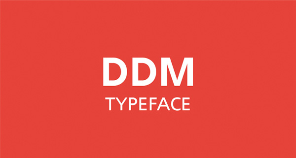 1.Free Font Of The Day  DDM