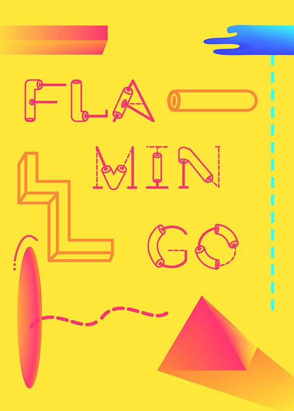 1.Free Font Of The Day  Flamingo