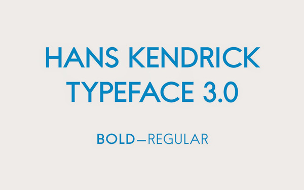 1.Free Font Of The Day  Hans Kendrick 3.0