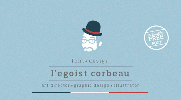 1.Free Font Of The Day  L'egoist Corbeau
