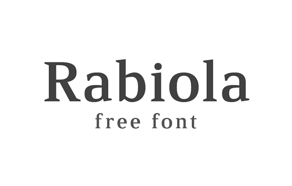 1.Free Font Of The Day  Rabiola