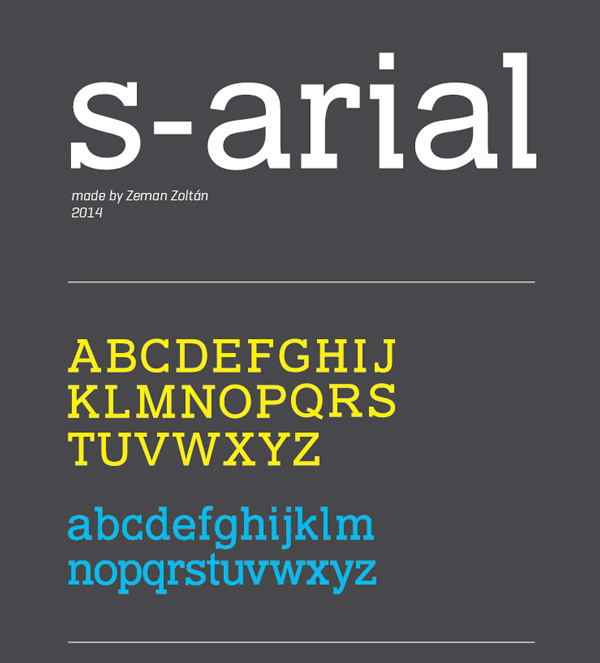 1.Free Font Of The Day  S-Arial
