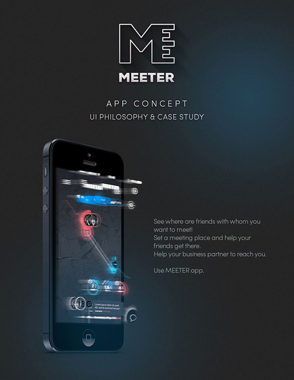 1.Mobile App Design Inspiration – MEETER
