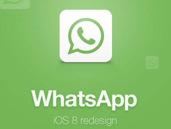 1.Mobile App Design Inspiration – WhatsApp Redesign for iOS 8 (2014)